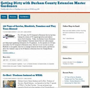 Extension Master Gardener Radio show Durham