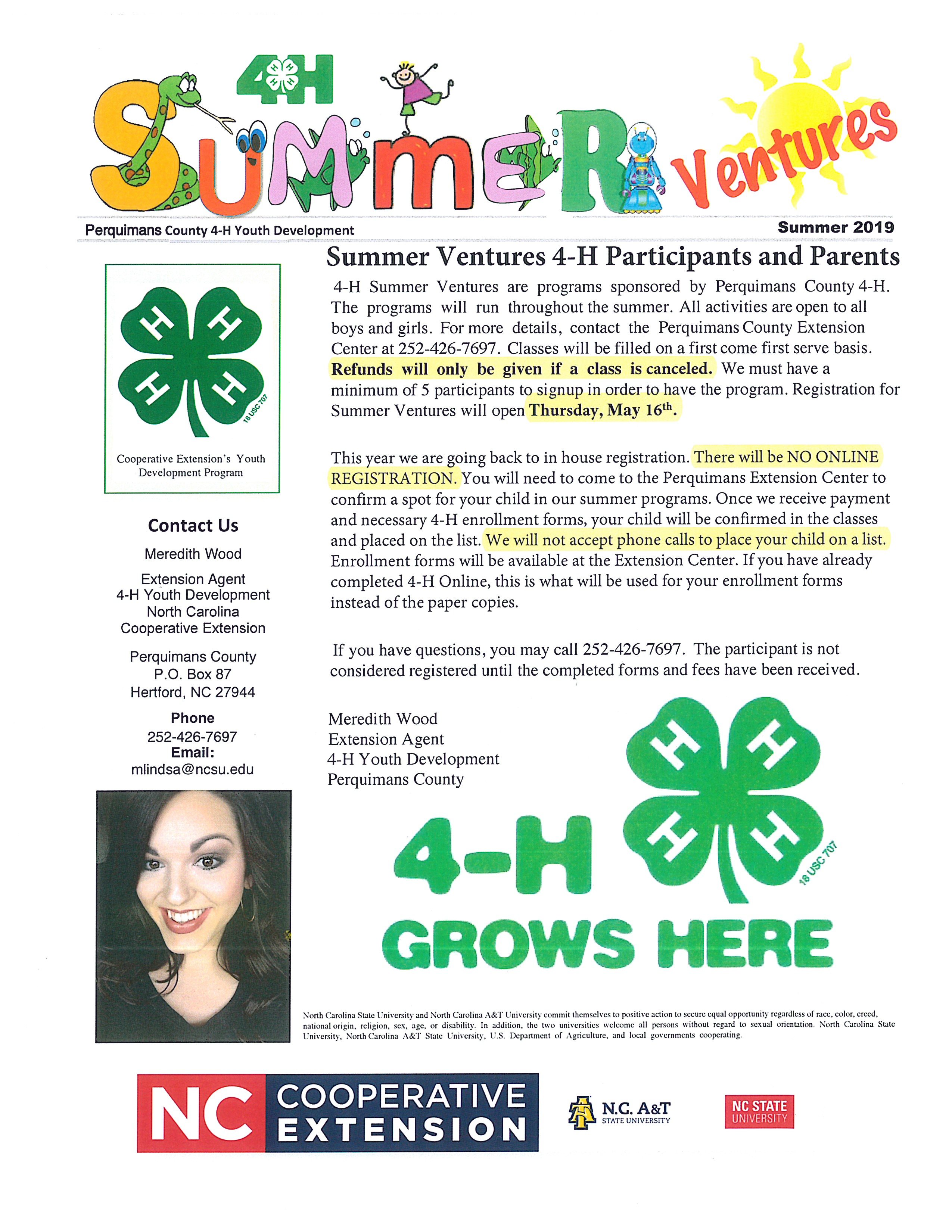 Summer Ventures page 1 image