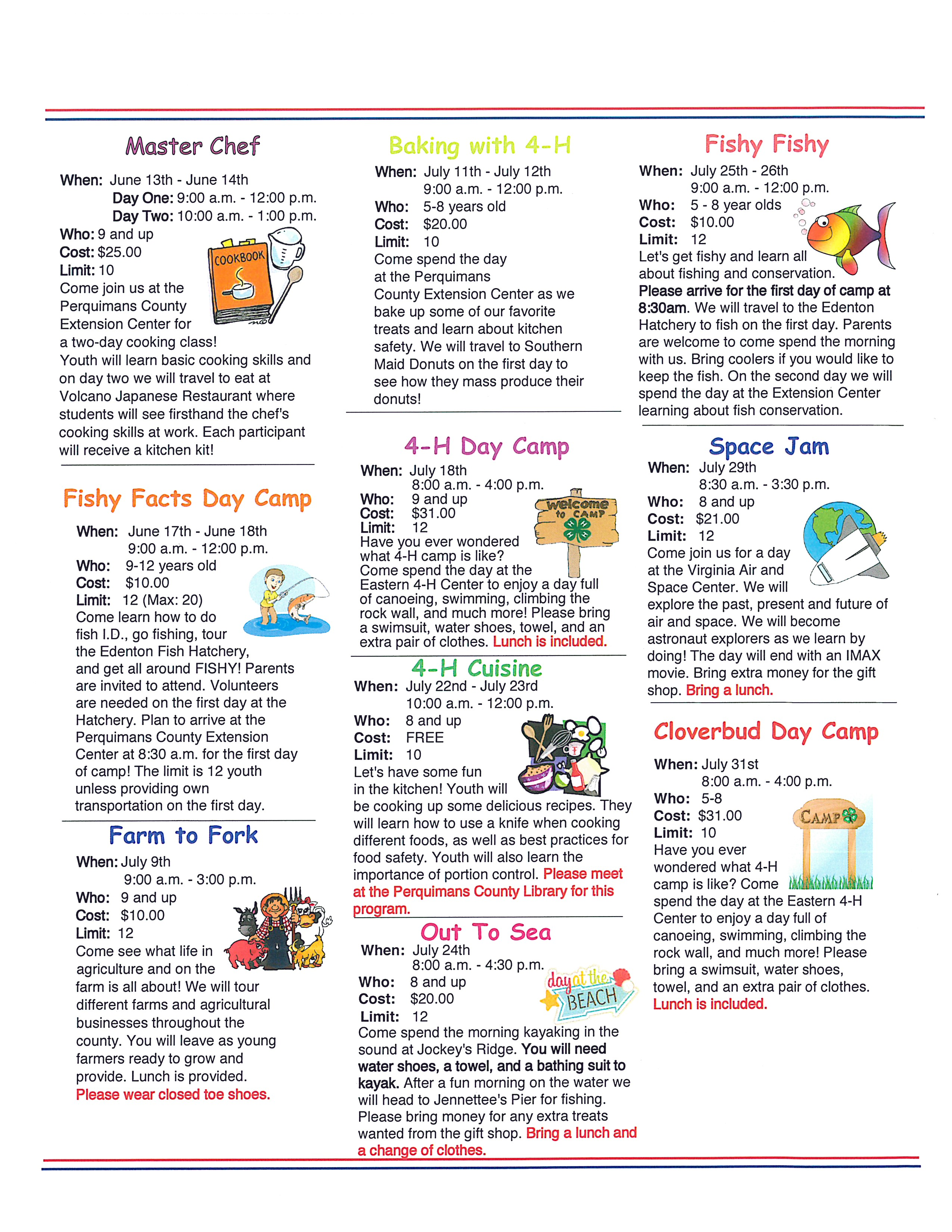 Summer Ventures page 2 image