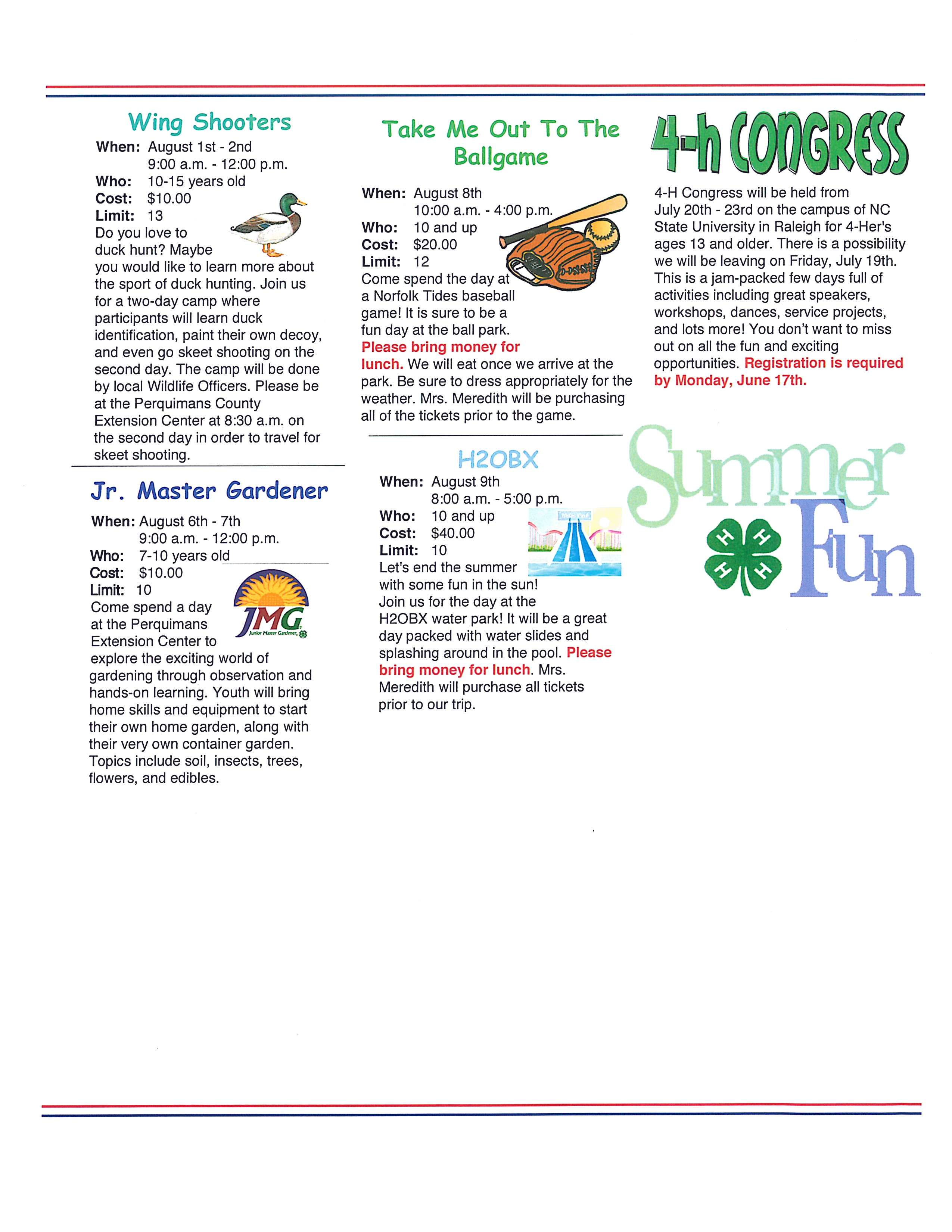 Summer Ventures page 3 image